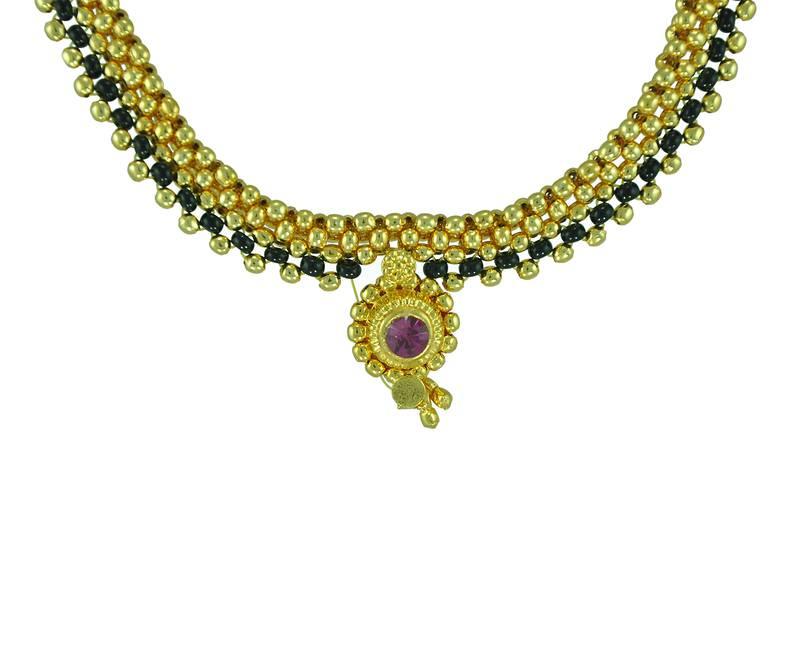 Jav Mani Mangalsutra – Kolhapur Antique Jewellery