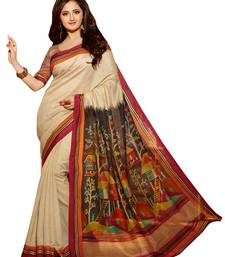 Buy White lace  Silk Fashion saree  with Blouse silk-saree online