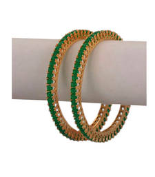 Buy Green Cubic Zirconia bangles-and-bracelets bangles-and-bracelet online