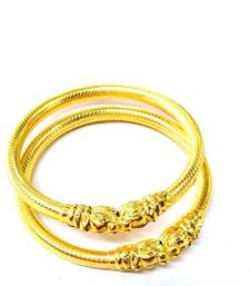 Buy 22 carrrat gold plated elephant bangles bangles-and-bracelet online