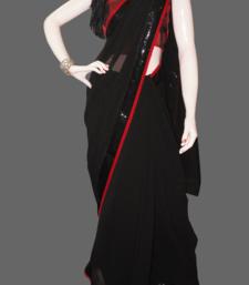 Buy Elegant black georgette-saree online