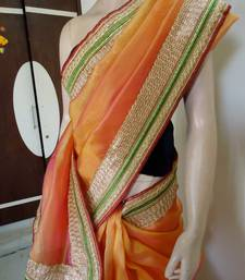 Buy orangish pink saree men-shoe online, Buy men-shoes online