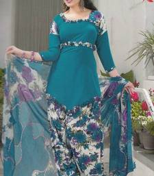 Buy Crepe dress material elegant designer unstitched salwar suit d.no 5178 dress-material online