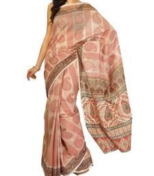 Buy Supernet cotton banarasi aanchal border saree cotton-saree online