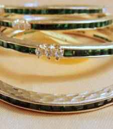 Buy PANNA EMRALD AND STONE  BANGLE S PAIR       S bangles-and-bracelet online