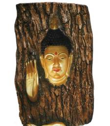 Buy Buddha Wooden & Fibre Wall Hanging wall-decal online