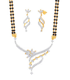 Buy Gold Cubic Zirconia mangalsutra mangalsutra online