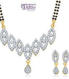 Buy Sukkhi Youthful Trendy Gold and Rhodium plated CZ Mangal Sutra Set  mangalsutra online