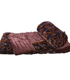 Buy Jaipuri Double Bed Brown Velvet Cotton Quilts jaipuri-razai online