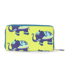 Buy Lime Green and Blue Bag  Wallets wallet online