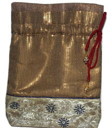 Buy Gold potli handbags potli-bag online