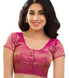 Buy pink brocade readymade-blouse readymade-blouse online