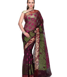 Buy Black woven cotton silk saree with blouse banarasi-saree online
