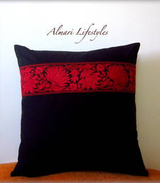 Buy Floral Lace Cushion Cover in Black gifts-for-her online