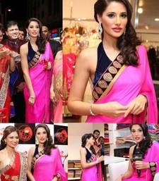 Buy Nargis Fakri Pink Fancy Designer saree with blouse kareena-kapoor-saree online