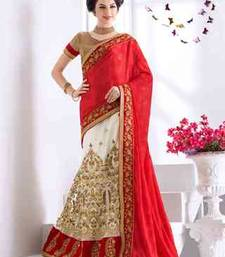 Buy multicolor embroidered satin saree with blouse eid-saree online