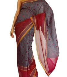 Buy Organza fancy Tanchooi  Stripe border banarasi saree silk-saree online