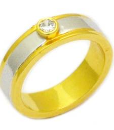 Buy Pointer Two Tone Band Ring online