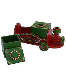 Buy Papier Mache Dry Fruit Box (without Dry Fruits) Train home-decor online