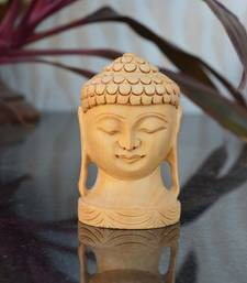 Buy Wooden Carved Lord Buddha Idol new-year-gift online