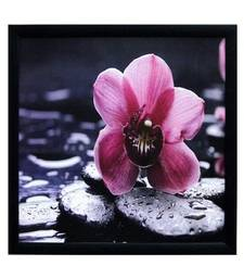 Buy Beautiful Pink Flower Satin Matt Texture Framed UV Art Print painting online