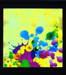 Buy Colorful Paint Spots Satin Matt Texture Framed UV Art Print painting online