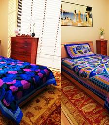 Buy Set of 2 Jaipuri Print Cotton Single Bedsheet with 1 Pillow Cover housewarming-gift online