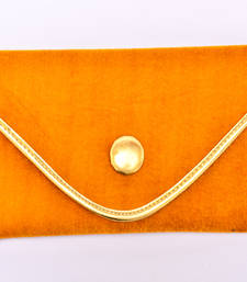 Buy Gorgeous Golden Valvet clutch clutch online