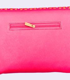 Buy Pink Coloured Semi Leather side purse clutch online