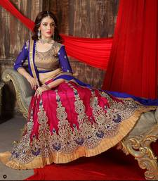 Buy Styles Closet Festival wear Pink And Blue Lehenga Choli lehenga-choli online