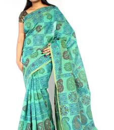 Buy Chanderi Fancy Printed Pallu Saree chanderi-saree online