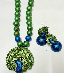 Buy blue and green Terracotta jewellery terracotta-jewelry online