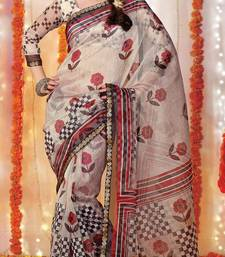Buy Designer Supernet Sari Jadoo1101 supernet-saree online