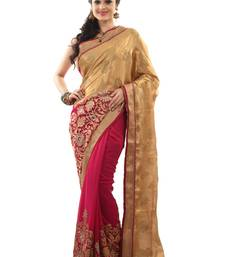 Buy Red embroidered chiffon saree with blouse heavy-work-saree online