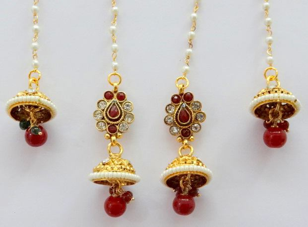 how to wear kashmiri jhumka