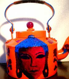 Buy Shades of Buddha-Orange and blue tea-kettle online