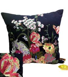 Buy Embroidered Black Floral Cushion Cover other-home-furnishing online