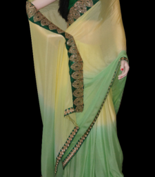 Buy shaded crepe crepe-saree online