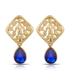 Buy Luxor Royal Blue Earrings ER-1284 danglers-drop online
