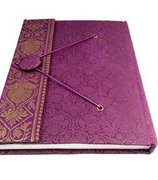 Buy Craftbazar Handmade Brocade saree Diary office-opening-gift online