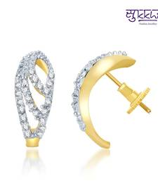 Buy Sukkhi Enchanting Gold and Rhodium Plated CZ Earrings(140E310) danglers-drop online