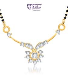 Buy Sukkhi Gracefull CZ Gold and Rhodium Plated mangalsutra(121M400) mangalsutra online