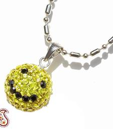 Yellow Smily Swarovski Crystal Pendant shop online