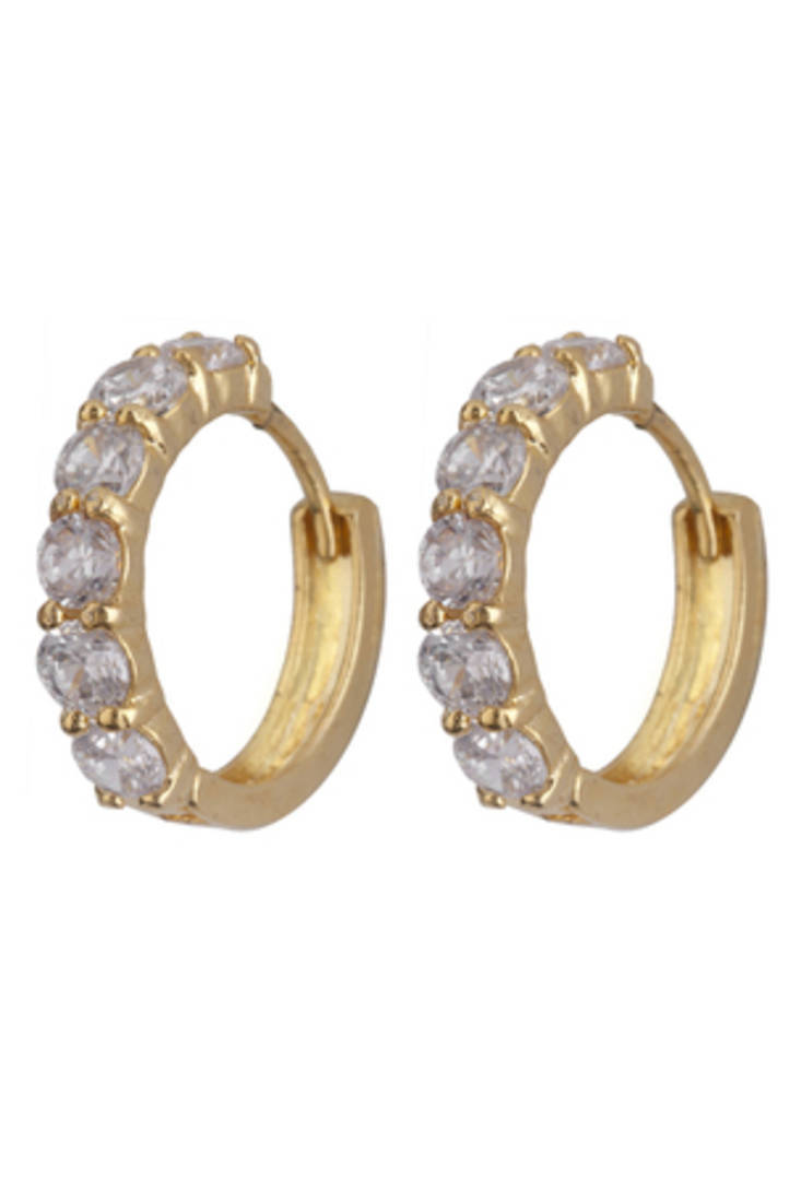 Buy design latest diamong loop earrings online foto
