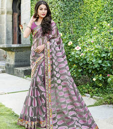 Buy Black and Pink and White brasso tissue saree with blouse tissue-saree online