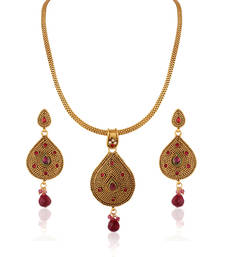 Buy Dashing Gold plated Antique set necklace-set online