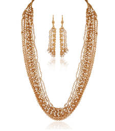 Buy Tempting Gold plated contemporary set necklace-set online