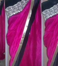 Buy pretty in pink silk-saree online
