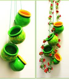Buy Green Mosaic Terracotta Hanging pot online