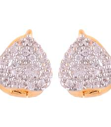 Buy Heart Shaped Bali With CZ stones stud online